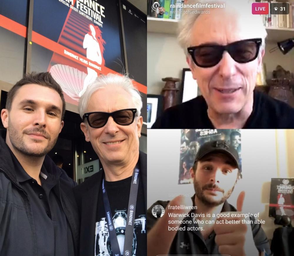Great LIVE talk on Instagram with Elliot Grove founder of Raindance Film Festival