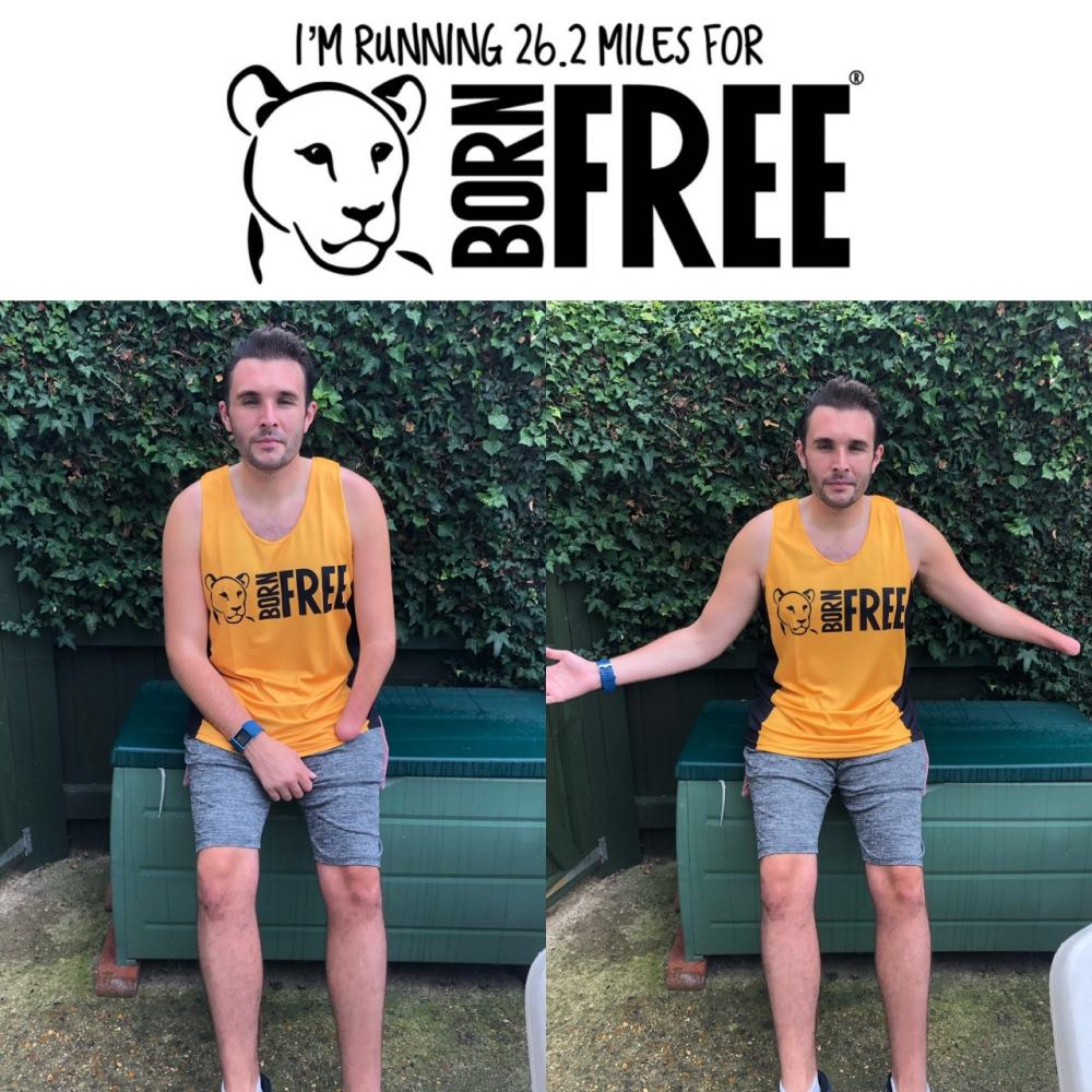 I'm Running a marathon for Born Free